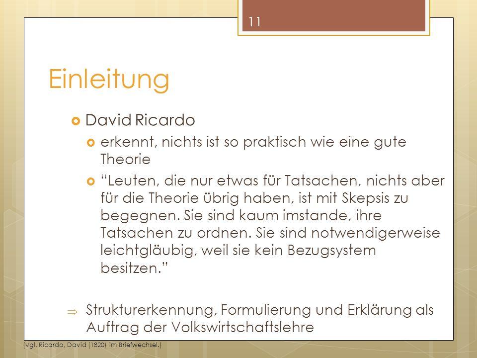 Einleitung David Ricardo