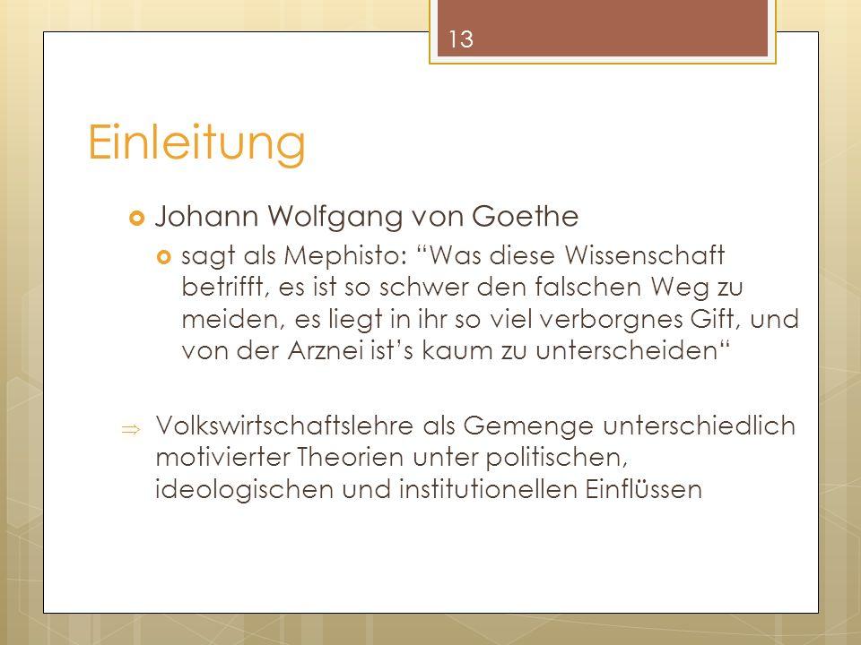 Einleitung Johann Wolfgang von Goethe