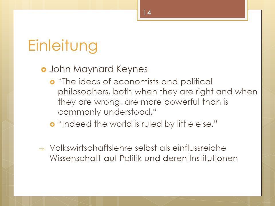 Einleitung John Maynard Keynes