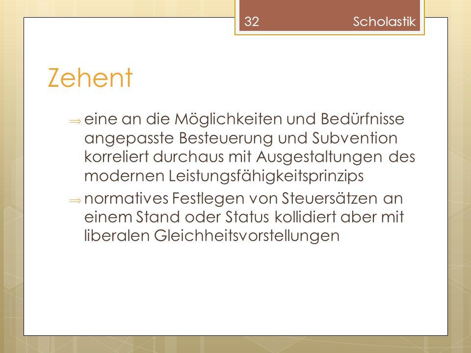 Scholastik Zehent.