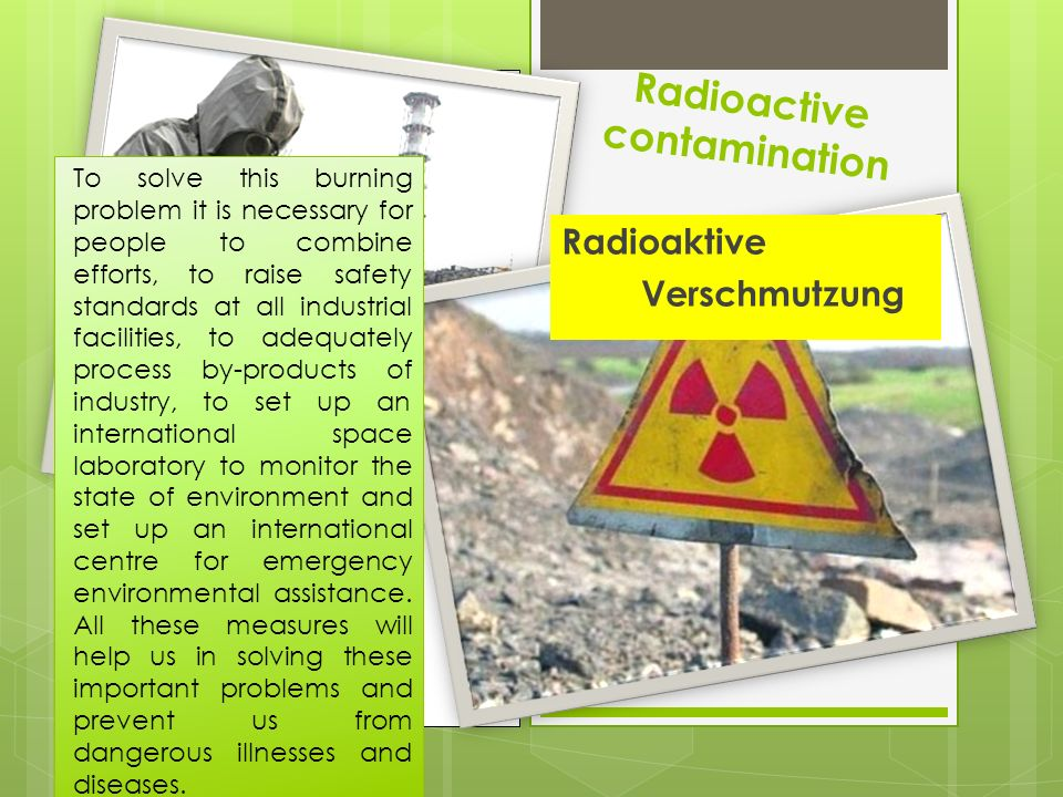 Radioactive contamination
