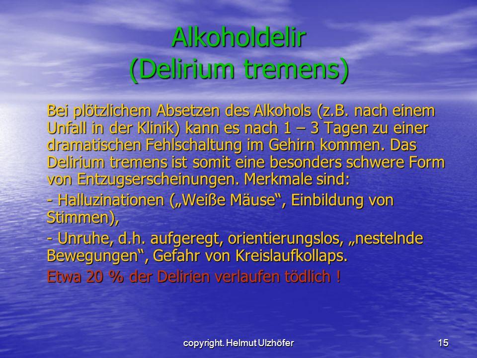 Alkoholdelir (Delirium tremens)