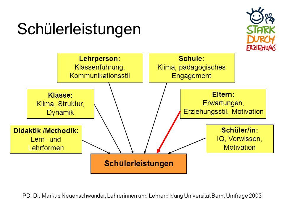 Schülerleistungen Schülerleistungen Lehrperson: