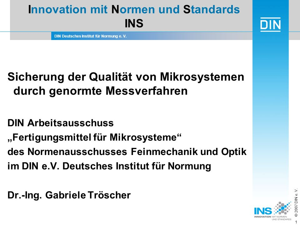 Innovation mit Normen und Standards INS