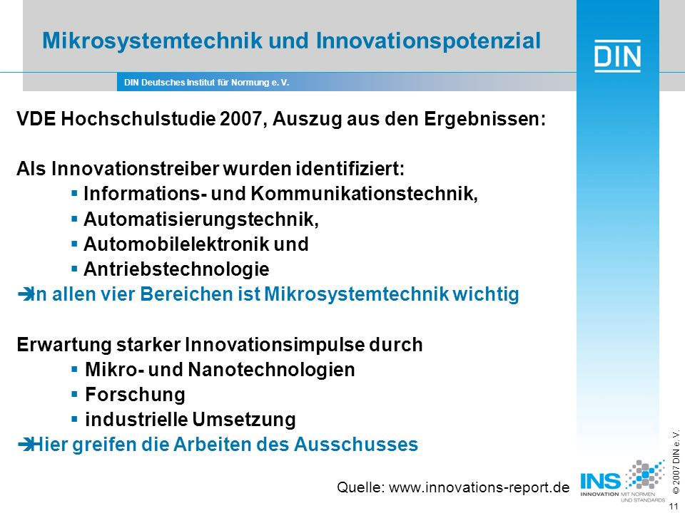 Mikrosystemtechnik und Innovationspotenzial