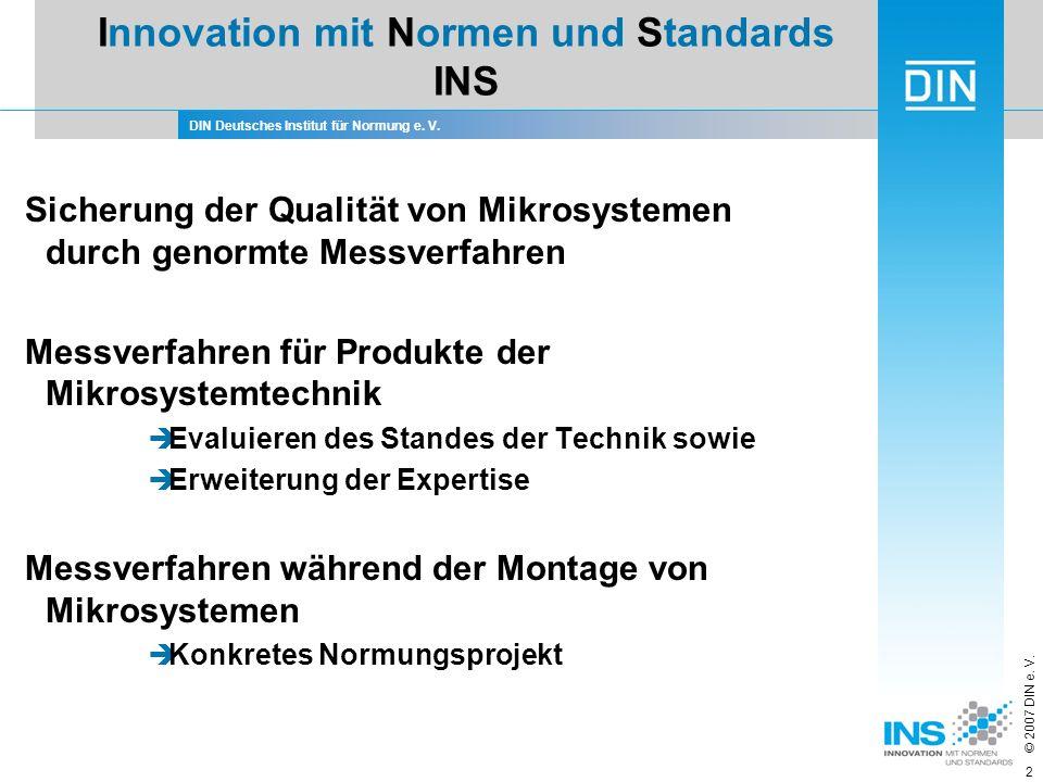 Innovation mit Normen und Standards INS