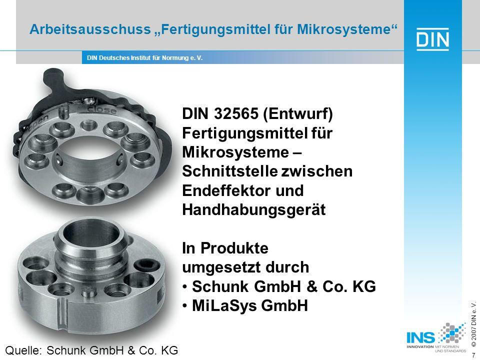 In Produkte umgesetzt durch Schunk GmbH & Co. KG MiLaSys GmbH