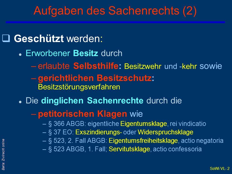 Aufgaben des Sachenrechts (2)