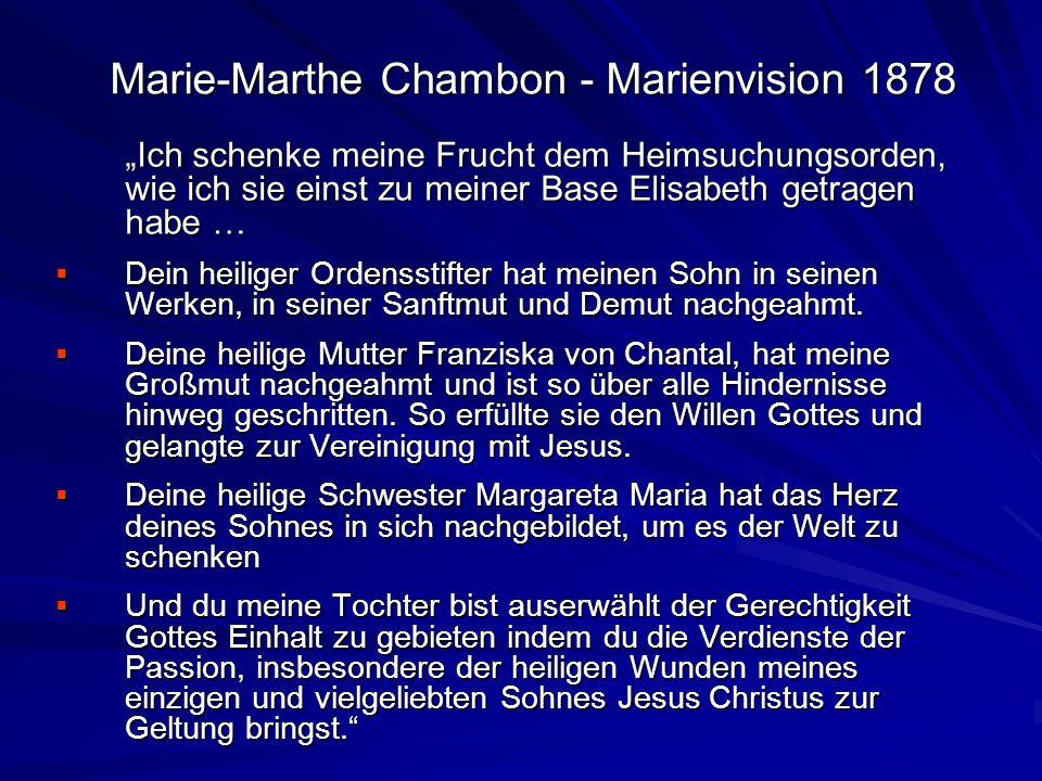 Marie-Marthe Chambon - Marienvision 1878