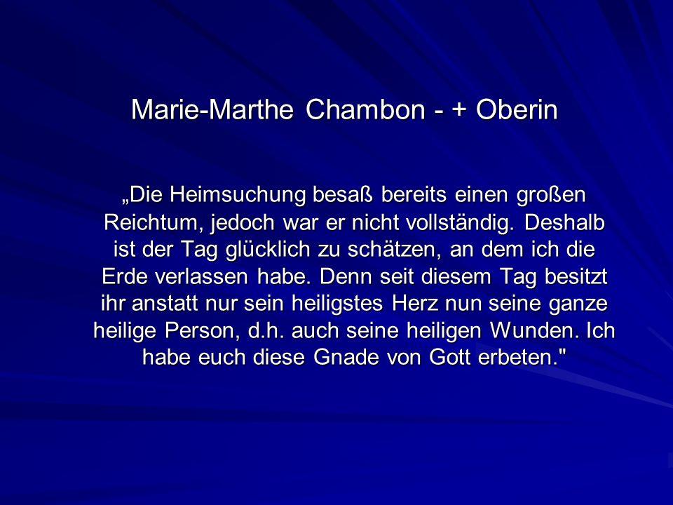 Marie-Marthe Chambon - + Oberin