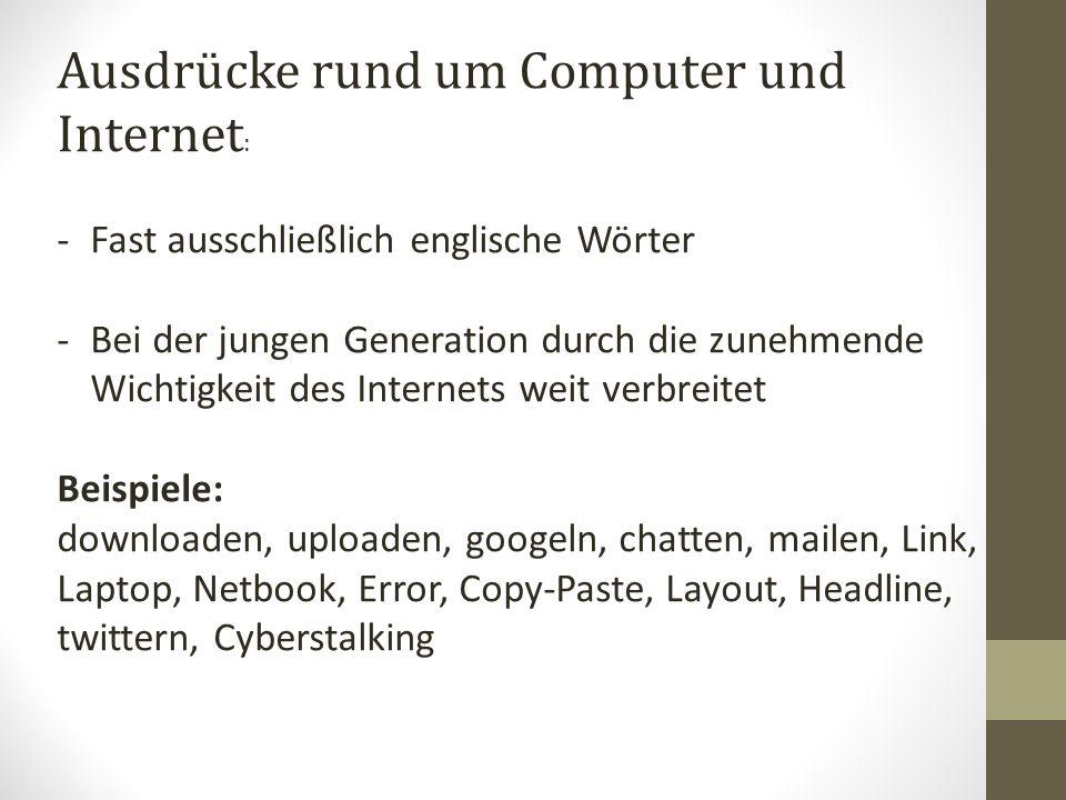 Ausdrücke rund um Computer und Internet: