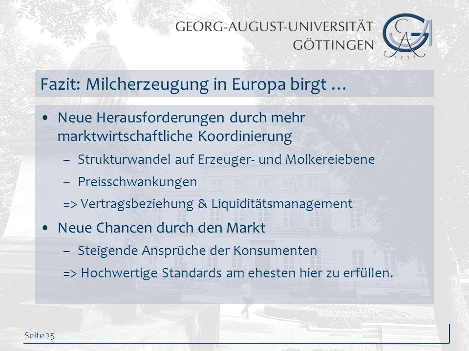 Fazit: Milcherzeugung in Europa birgt …