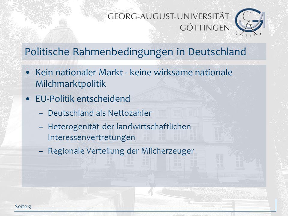 Politische Rahmenbedingungen in Deutschland