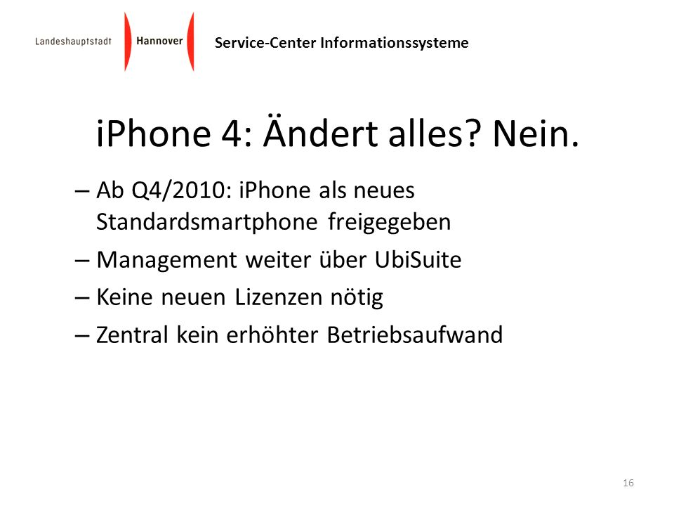 iPhone 4: Ändert alles Nein.