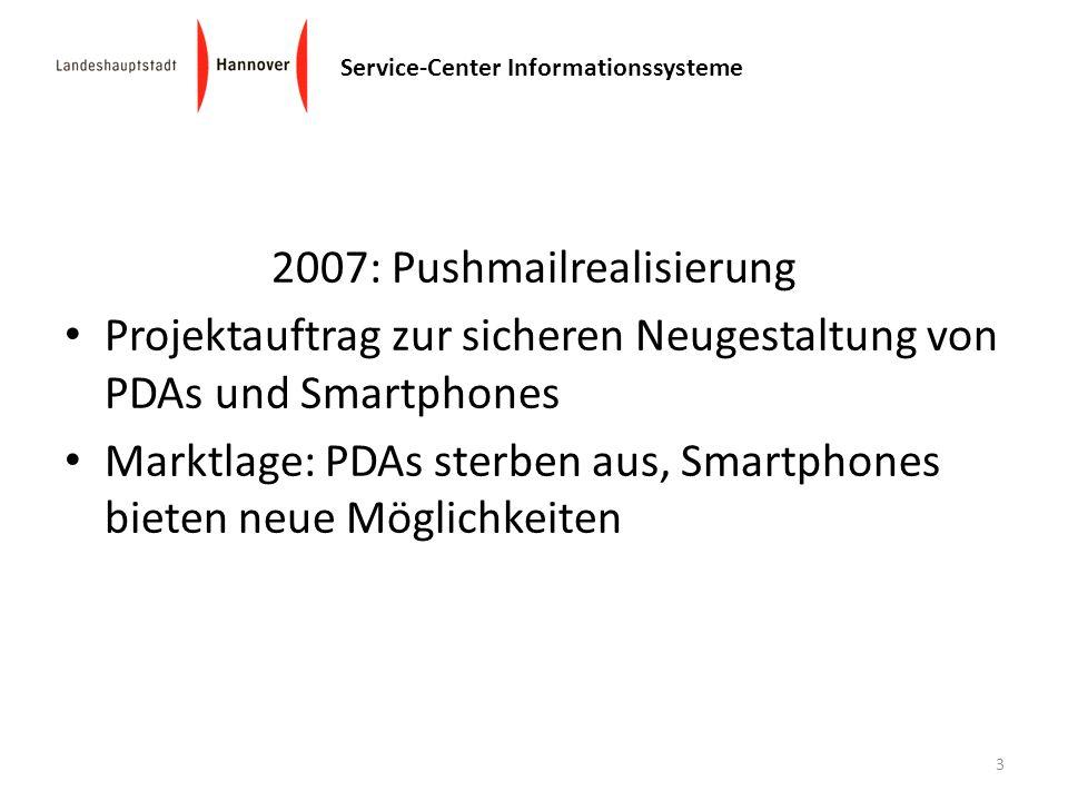 2007: Pushmailrealisierung