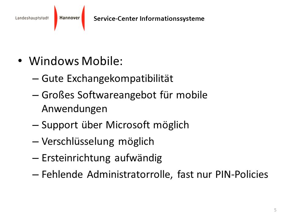 Windows Mobile: Gute Exchangekompatibilität