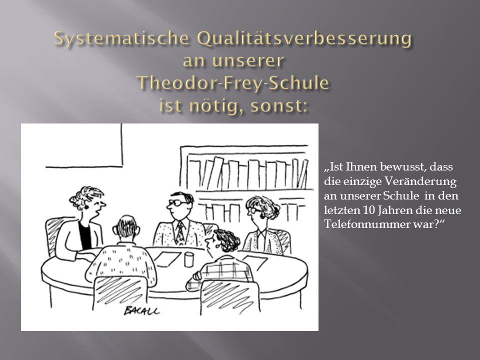 Systematische Qualitätsverbesserung an unserer Theodor-Frey-Schule ist nötig, sonst: