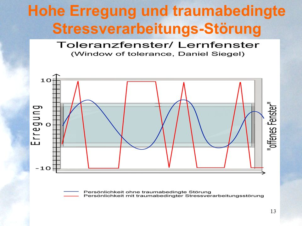 Hohe Erregung und traumabedingte Stressverarbeitungs-Störung