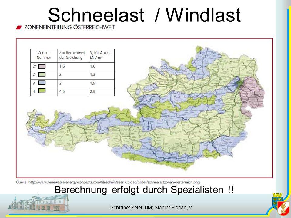 Schneelast / Windlast Zonen