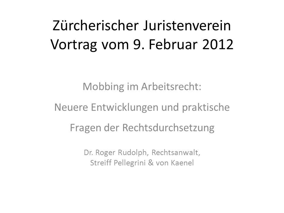Zürcherischer Juristenverein Vortrag vom 9. Februar 2012