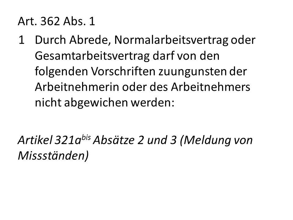 Art. 362 Abs. 1