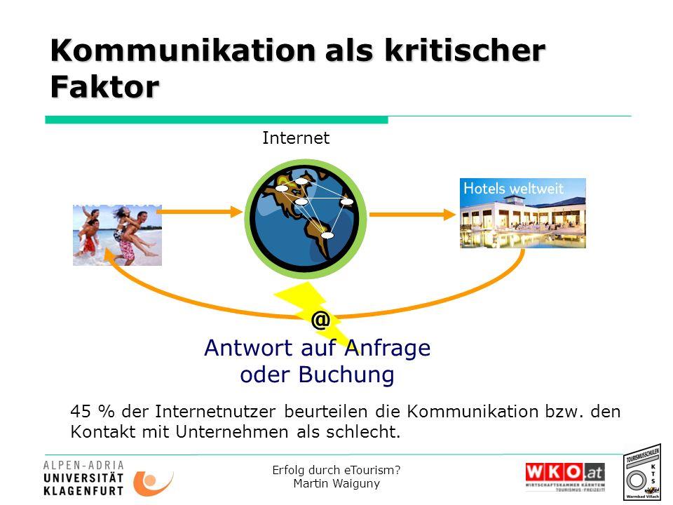 Kommunikation als kritischer Faktor