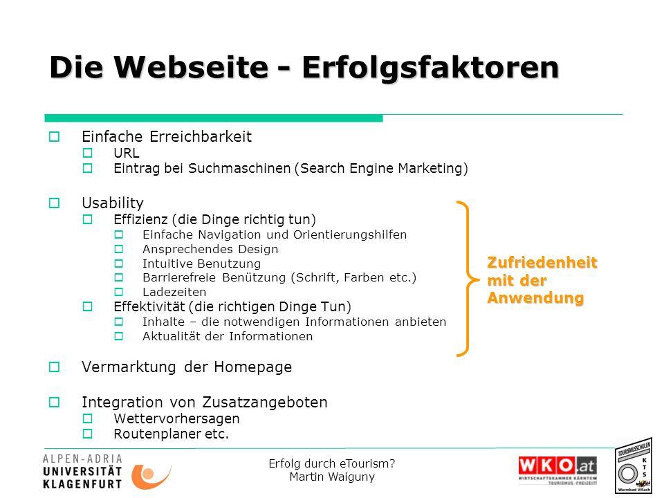 Die Webseite - Erfolgsfaktoren