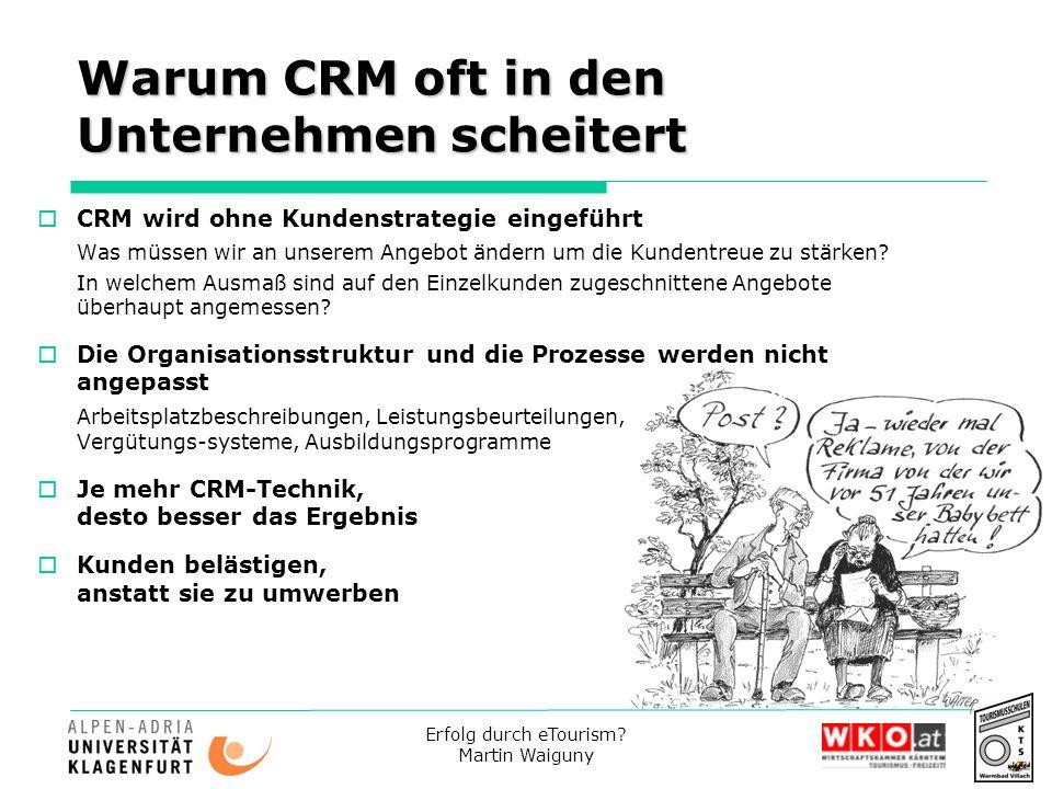 Warum CRM oft in den Unternehmen scheitert