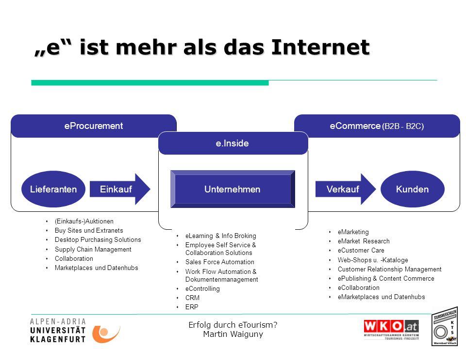 """""""e ist mehr als das Internet"""