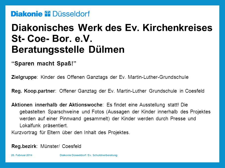 Diakonisches Werk des Ev. Kirchenkreises St- Coe- Bor. e. V