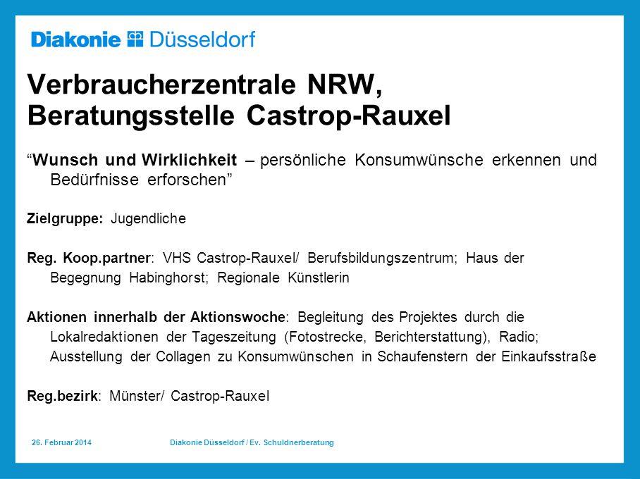 Verbraucherzentrale NRW, Beratungsstelle Castrop-Rauxel