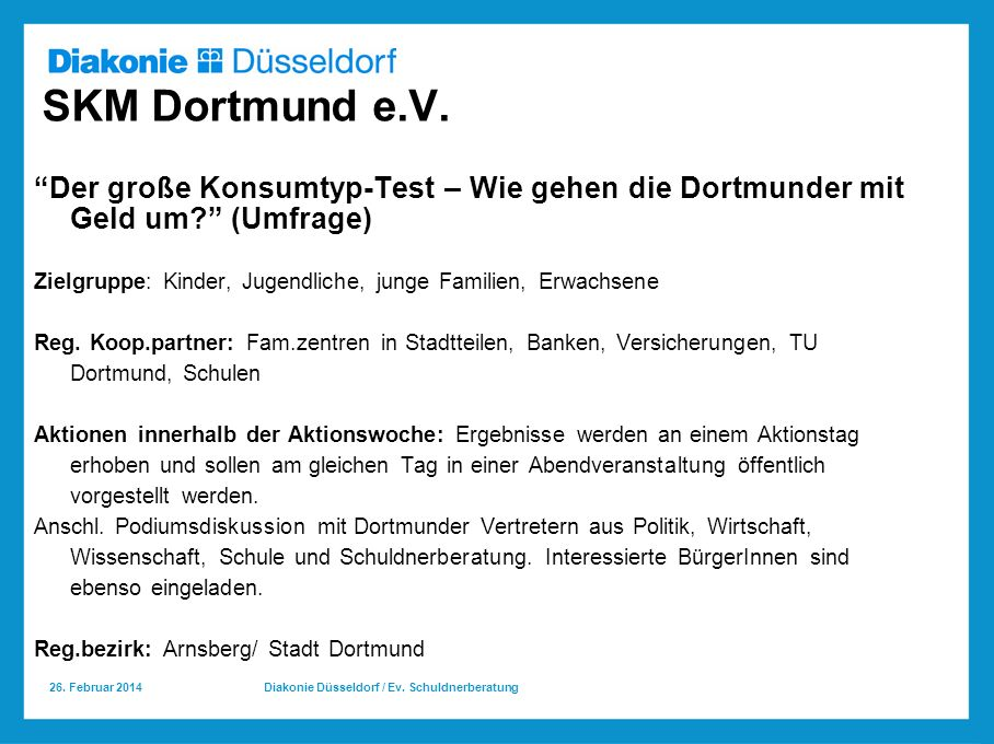 SKM Dortmund e.V. Der große Konsumtyp-Test – Wie gehen die Dortmunder mit Geld um (Umfrage)