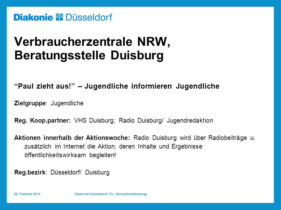 Verbraucherzentrale NRW, Beratungsstelle Duisburg