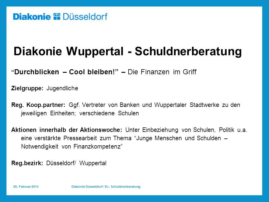 Diakonie Wuppertal - Schuldnerberatung