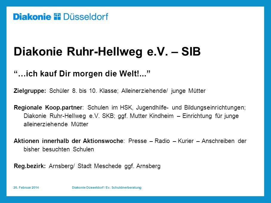 Diakonie Ruhr-Hellweg e.V. – SIB