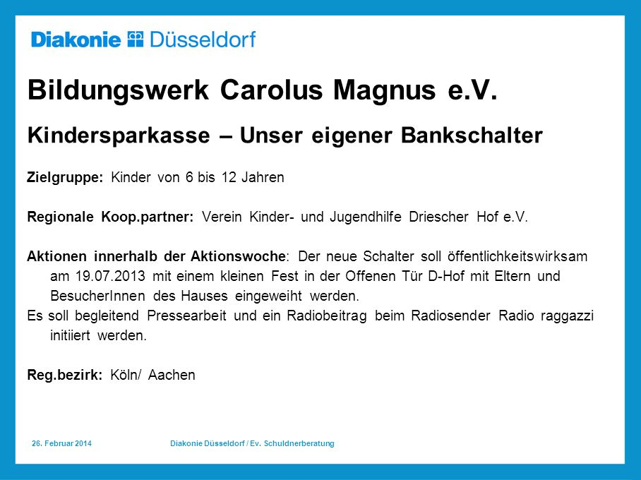 Bildungswerk Carolus Magnus e.V.