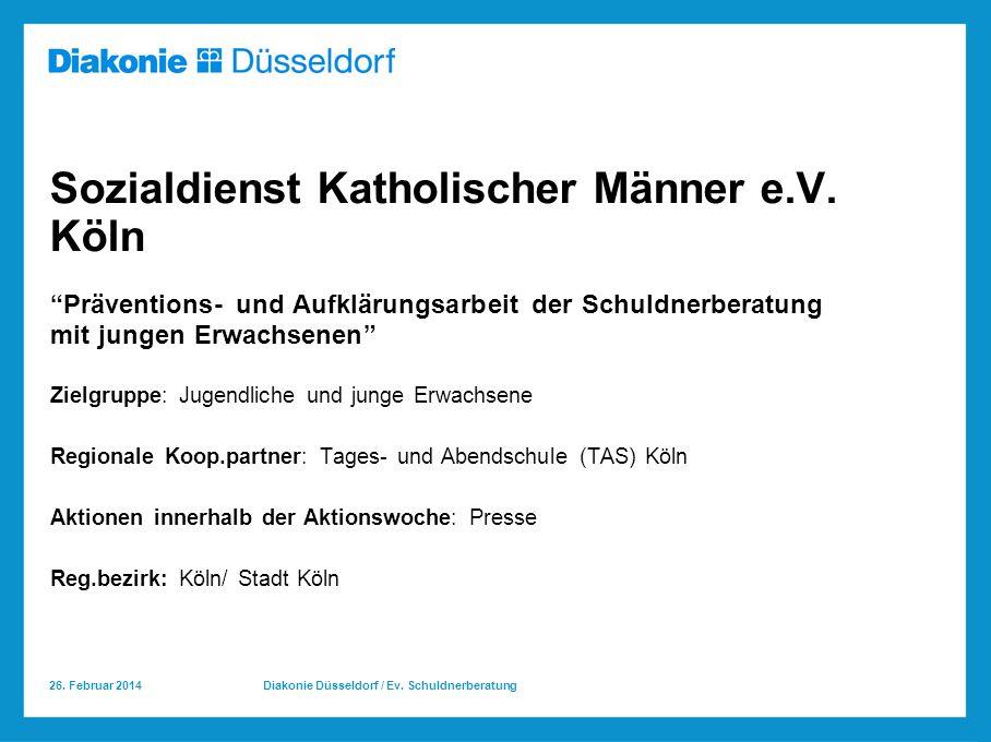 Sozialdienst Katholischer Männer e.V. Köln