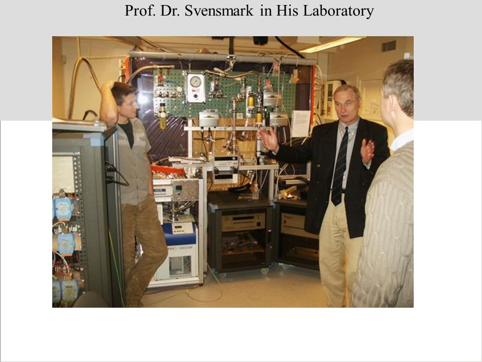 Prof. Dr. Svensmark in His Laboratory