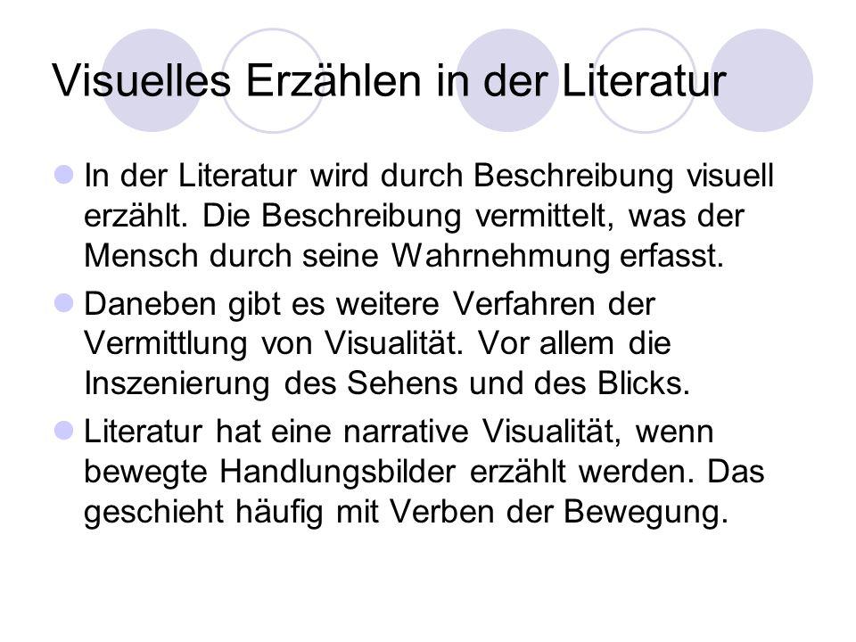 Visuelles Erzählen in der Literatur