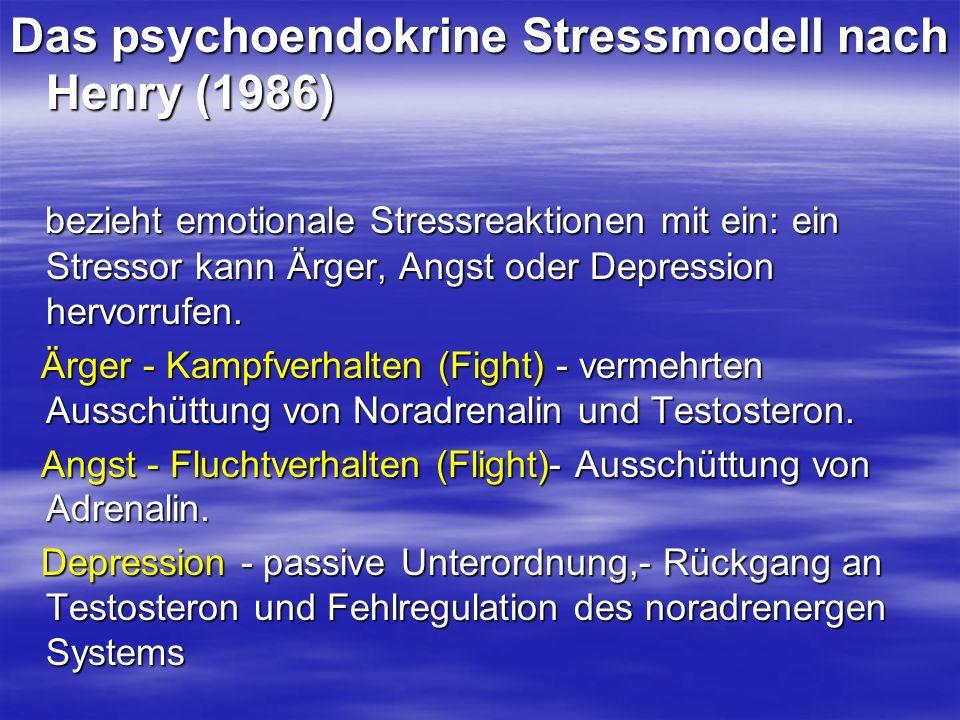 Das psychoendokrine Stressmodell nach Henry (1986)