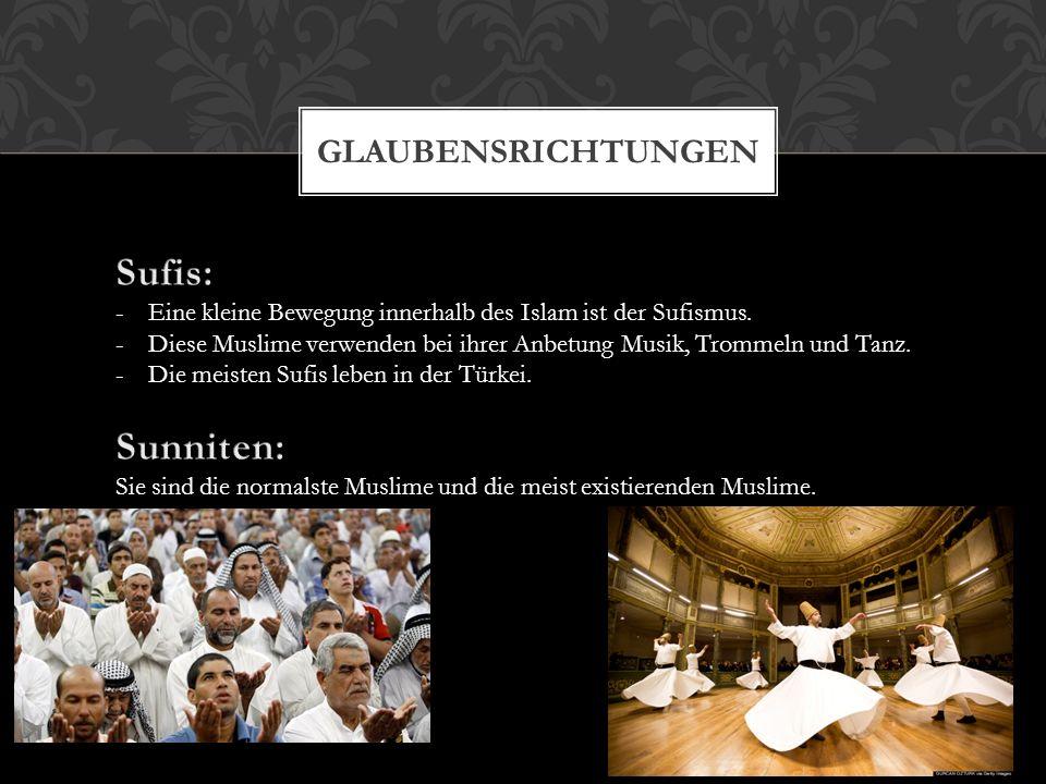 Sufis: Sunniten: Glaubensrichtungen