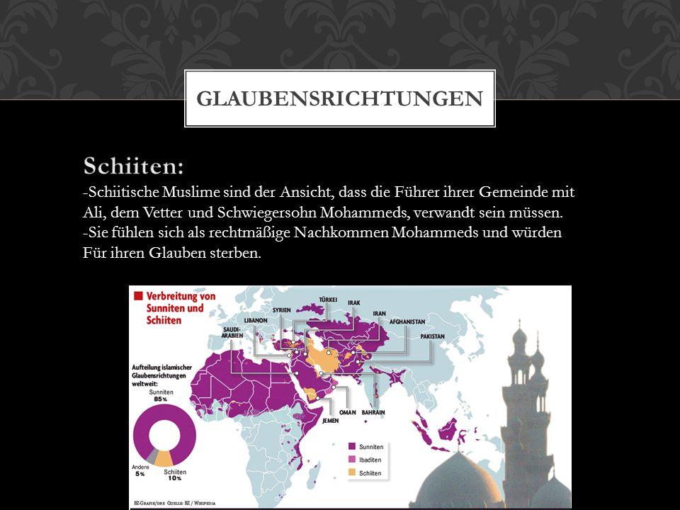 Schiiten: Glaubensrichtungen