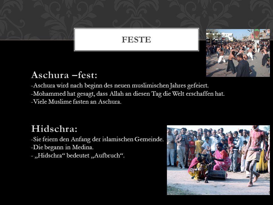 Aschura –fest: Hidschra: Feste