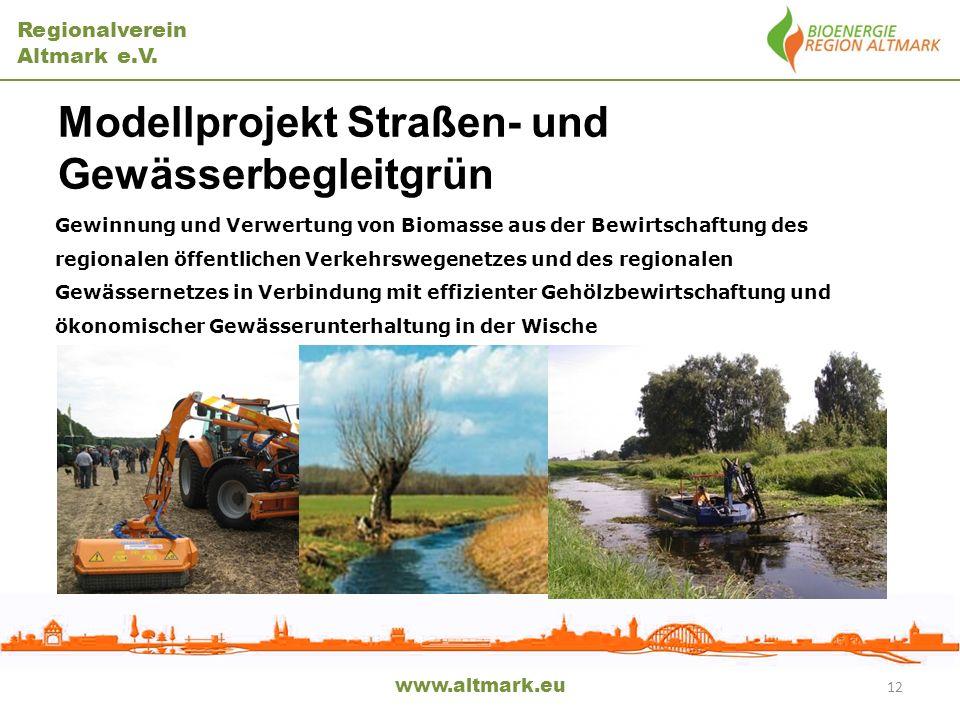 Modellprojekt Straßen- und Gewässerbegleitgrün