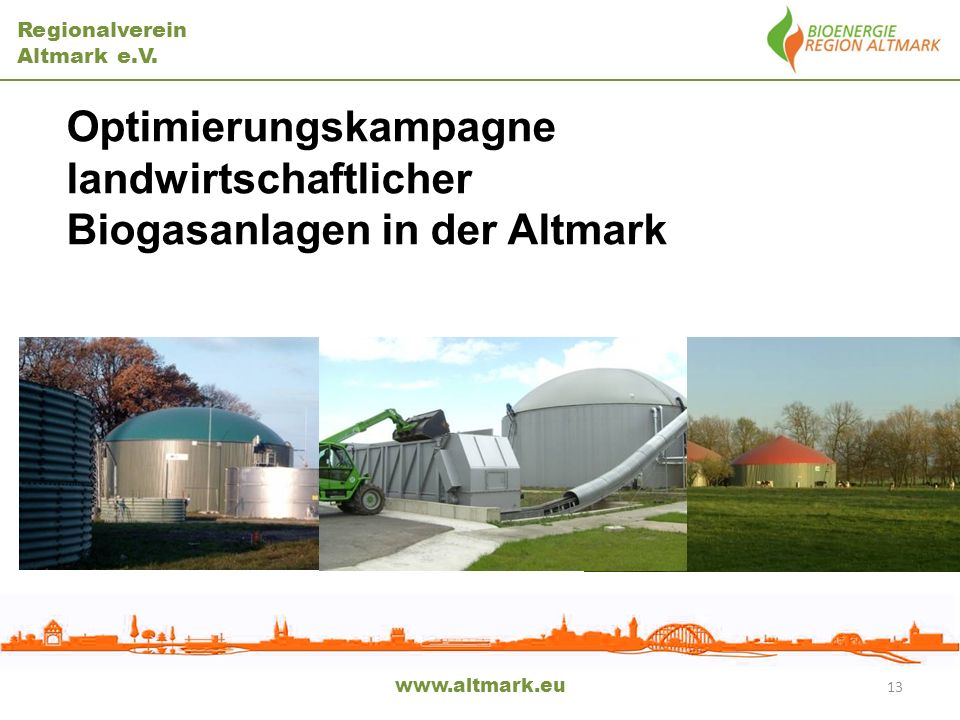 Optimierungskampagne landwirtschaftlicher Biogasanlagen in der Altmark