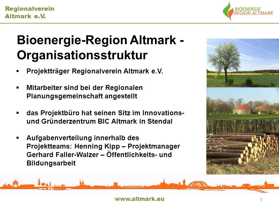 Bioenergie-Region Altmark - Organisationsstruktur