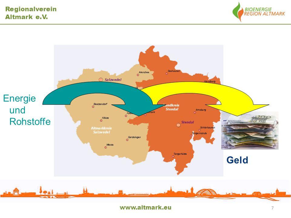 Energie und Rohstoffe Geld www.altmark.eu