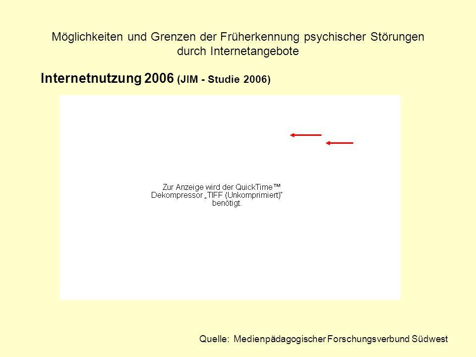 Internetnutzung 2006 (JIM - Studie 2006)
