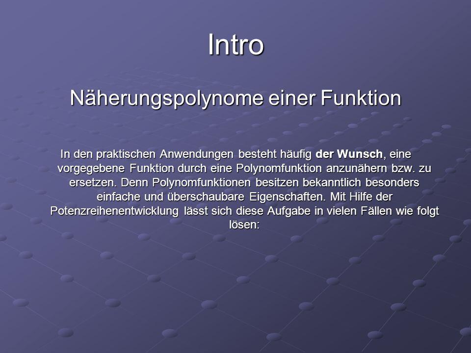 Näherungspolynome einer Funktion