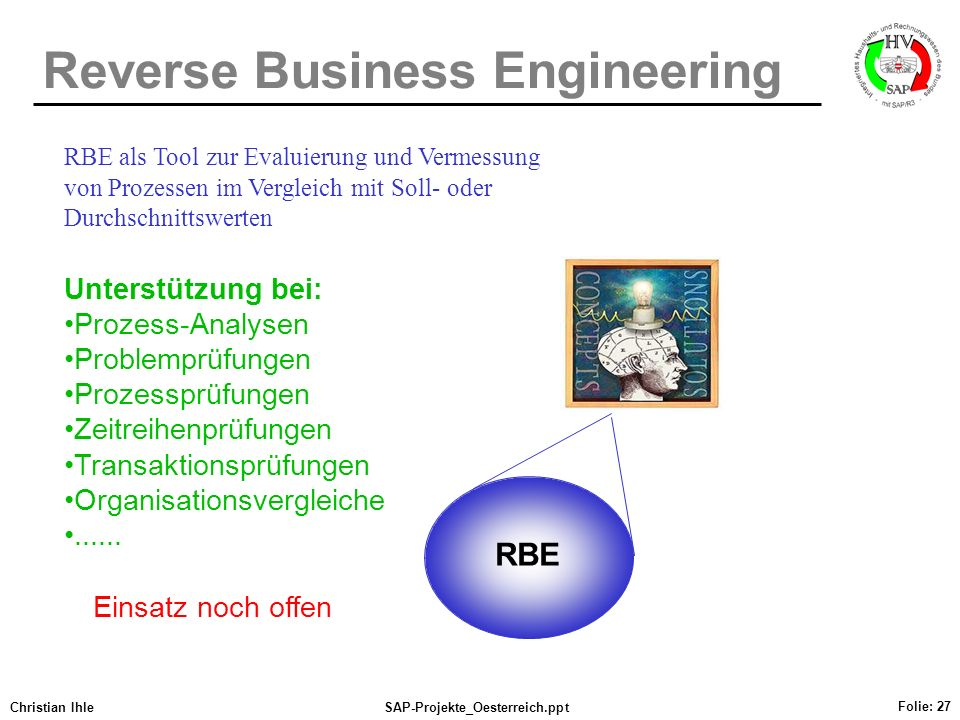 Reverse Business Engineering